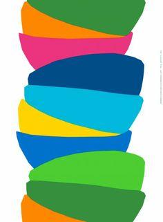 Kippo-kangas (valkoinen, sininen, vihreä) |Kankaat, Puuvillakankaat | Marimekko