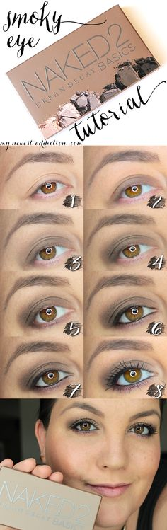 Smoky Eye Makeup Look Tutorial using the Urban Decay Naked Basics 2 Palette