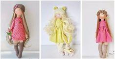 Las muñecas de trapo no pasan de moda y son perfectas para las princesas de la casa. Opta por hacerla tu misma a través de moldes con fieltro y tela, senci Ideas Creativas, Felt Toys, Patches, Scrapbook, Tote Bag, Sewing, Jeans, Handmade, Sewing Doll Clothes