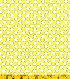 DS Quilt Collection- Sweet Ruby Circles Yellow Fabric