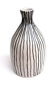 Hand Drawn Black Line Bud Vase