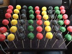 Rasta themed cake pops by Teresa:)