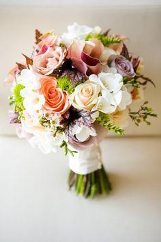 wedding-bouquet in an array of beautiful colors♥ Floral Bouquets, Wedding Bouquets, Wedding Flowers, Purple Bouquets, Purple Wedding, Our Wedding, Wedding Ceremony, Wedding Blog, Summer Wedding