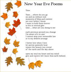 New Year Eve Poems