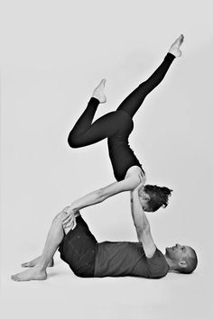 partner yoga - I need to find someone to do this with. It looks so cool.