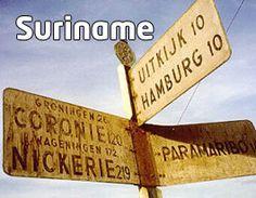 Oude ANWB borden in Suriname. Aandenken uit de koloniale tijd.