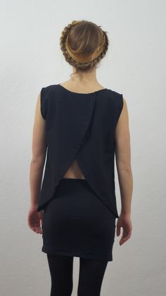 schwarze Dreiecksbluse von SANDU auf DaWanda.com