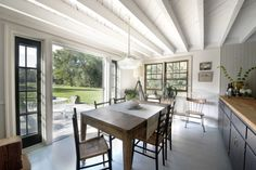 Farmhouse Kitchen with French Doors leading to back yard_Remodelista