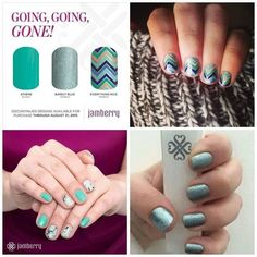 Going Going Gone August is the month that 1/3 of the Jamberry nail wraps will be retired. That's right...they will no longer be available come Sept.! Don't miss this opportunity to stock up on your favorites before they are gone for good. www.alohajam.jamberrynails.net