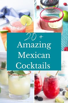 From spicy to sweet and everything in between these are the best Mexican cocktails for your next fiesta. Discover the best recipes for creative margaritas and spicy micheladas! | mexican cocktail ideas | mexican drink recipes | tequila cocktails | margarita recipes | Mexican mixed drinks | easy Mexican drinks | summer cocktail recipes | summer drink recipes |
