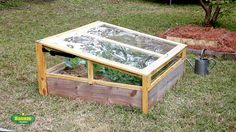 Protect your plants from frost and cold weather by building a simple raised bed cold frame to sit on top of an existing 4 x 4 bed. Handy screen door closers hold it open. Bonnie Plants shows you how.