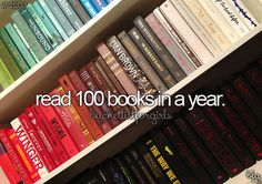 Done - 2015 I Read 110. Some of them were children's books for my children's lit class but I still say they count.