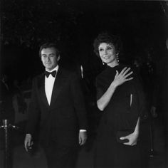 Audrey Hepburn with her second husband, Italian psychiatrist Andrea Dotti, at the 48th Annual Acedemy Awards ceremony at the Dorothy Chandler Pavilion, Los Angeles, California, 22nd March 1976.