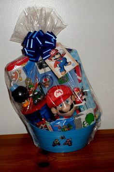 Star wars easter basket gift baskets pinterest easter nintendo mario birthday gift basket mario plush drink cup erase board candy new nintendo negle Choice Image
