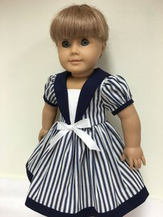 Sailor dress 18 doll clothes fit American girl