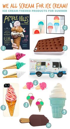 We All Scream for Ice Cream Round-up (Via @AmandaWaas)