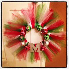My Christmas Tulle Wreath!