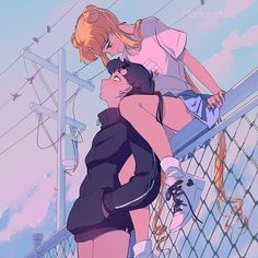 This reminds me of my own relationship! Wallpaper Animes, Cute Anime Wallpaper, Animes Wallpapers, Sailor Moon Aesthetic, Aesthetic Art, Aesthetic Anime, Cartoon Kunst, Cartoon Art, Manga Art