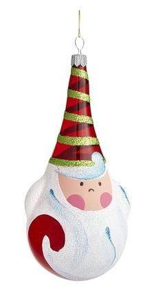 Painted teardrop Santa ornament
