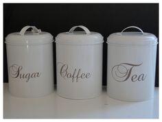 Kahvi ja teepurkit