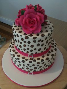 Posts about Rockabilly Wedding written by Rockabelle Bombshell Pretty Cakes, Cute Cakes, Beautiful Cakes, Amazing Cakes, Leopard Cake, Pink Leopard, My Birthday Cake, Teen Birthday, Rockabilly Wedding