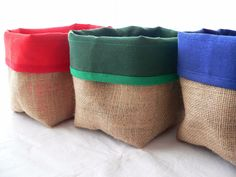 contenedor organizador panera cesto canasto arpillera y lona Farm Party Decorations, Fabric Boxes, Jute Bags, Pouch Bag, Fabric Crafts, Burlap, Sewing Patterns, Arts And Crafts, Reusable Tote Bags