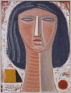 Mario Tozzi 1971: Testina. Olio su Tela cm.35x27 - Collezione Privata Milano - Archivio numero 179 - Catalogo Generale numero 71/125.