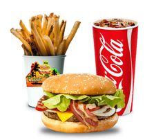 Rasta Burger Bacon Cheeseburger Combo by MrAngryDog