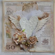 MezzaNotte skapar: Shabby and simple cards by katie