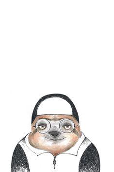 "Faultier auf RIDING RHINO - ""Is(s)t die Zukunft vegan?"" #Faultier #sloth #Aquarell #watercolor #AnimalArt #Illustration #Tierporträt Evolution, Vegan, Friends, Illustration, Sloth Animal, Future, Watercolor, Animals, Boyfriends"