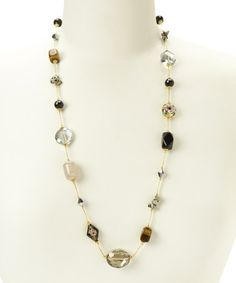 Look what I found on #zulily! Tiger's Eye & Cloisonné Necklace by Embassy Jewels #zulilyfinds