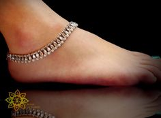 Bollywood Ethnic Indian Anklet kundan Silver Saree/Belly Dance jwlry single foot #Jewelry #Deal #Fashion