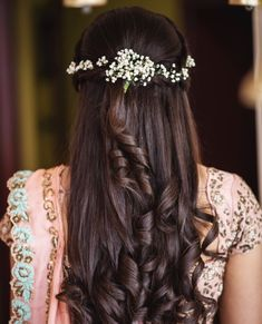 Wedding Hairstyles For Women, Engagement Hairstyles, Open Hairstyles, Haircuts For Long Hair, Braids For Long Hair, Indian Hairstyles, Bride Hairstyles, Bridal Hair Buns, Bridal Hairdo