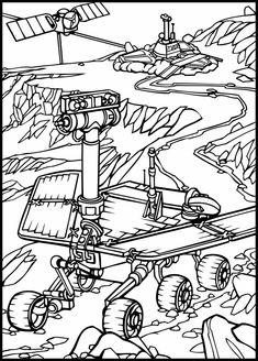 How to draw a space rover. Rovers are sent to planets that