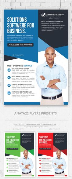 Corporate Flyer Template PSD #design Download: http://graphicriver.net/item/corporate-flyer/13412679?ref=ksioks