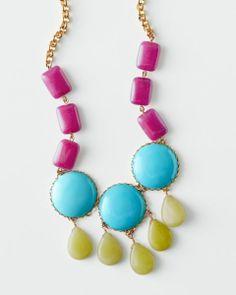 David Aubrey Multicolored Tiered Necklace