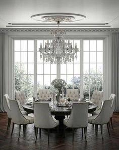 40 Inspiring Dining Room Table Design with Modern Style Small ideas. - 40 Inspiring Dining Room Table Design with Modern Style Small ideas, from making certa - Formal Dining Tables, Dining Room Table Decor, Elegant Dining Room, Luxury Dining Room, Beautiful Dining Rooms, Dining Room Design, Dining Room Furniture, Dinning Room Ideas, Round Tables