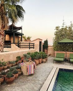 5 Beautiful Riads in Marrakech :: This Is Glamorous Riads In Marrakech, Medina Marrakech, Hubert Reeves, Cedar Door, Moroccan Furniture, Moroccan Art, Small Pools, Outside Living