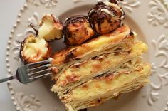 Tort Mille Feuille cu profiterol - Retete culinare by Teo's Kitchen French Toast, Sweet Treats, Deserts, Breakfast, Kitchen, Food, Morning Coffee, Sweets, Cooking