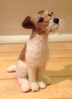 Coriandr / jennymade / needle felted dog portrait