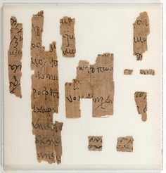 Papyrus Fragments of a Legal Document Date: 580–640 Geography: Made in Thebes, Byzantine Egypt Culture: Coptic Medium: Papyrus with ink