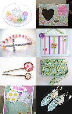 Spring Pastels - POLKA DOTS Treasury Game by Anne on Etsy--Pinned with TreasuryPin.com