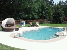 fiberglass pool images | Grand Baron Fiberglass Pool: Large Fiberglass Pools | Backyard Leisure