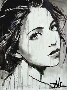 Loui Jover Debbye Reis Collection Dessin Art t Art L'art Du Portrait, Newspaper Art, Arte Pop, Drawing Techniques, Drawing People, Face Art, Watercolor Art, Cool Art, Art Drawings