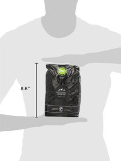 This is a rather unconventional yet effective way of showing relative size of an object on a product page (in this case, a bag of coffee beans)