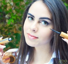 Winged eyeliner & perfect brows, the healthy way!!  #ZaoOrganicMakeup works as skincare for your skin! #100% Natural ingredients #ChemicalFree From Organic Farming!