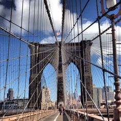Completed in 1883, plans for the Brooklyn Bridge were submitted by John Roebling in 1867, and construction taken over by his son Washington (with help from wife Emily) when he died in 1869. #Engineers #newyork