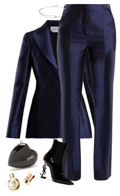 A fashion look from March 2018 featuring Gabriela Hearst blazers, Gabriela Hearst pants and Yves Saint Laurent ankle booties. Browse and shop related looks. Suit Fashion, Work Fashion, Fashion Looks, Fashion Outfits, Womens Fashion, Fashion Clothes, Business Attire, Business Outfits, Office Outfits