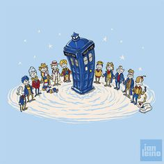 Doctor Whoville by artist Ian Leino - I was thinking someone should do a mashup of Whoville and Doctor Who before this came out.  I was pleased when I saw this!  So well done!  It even has K-9!  (repin but worth it)