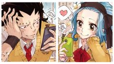 gajeel x levy - Google Search Gale Fairy Tail, Fairy Tail Natsu And Lucy, Fairy Tail Ships, Fairy Tale Anime, Fairy Tales, Gajeel Et Levy, Best Anime Couples, Fairy Tail Quotes, Gajevy